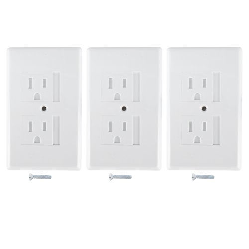 Mommys Helper Safe Plate Electrical Outlet Covers Standard, White 3-Pack