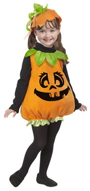 Pumpkin Girl Costume - Toddler Medium