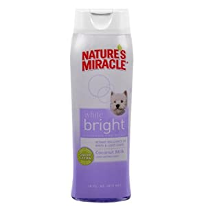 Nature's Miracle Products DNAP5924 White Bright Dog Grooming Shampoo, 16-Ounce