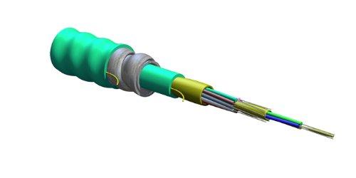 012T88-33180-A3 - Corning 12 Fiber Mic Interlocking Armored Plenum Cable, 50 Um, Om3