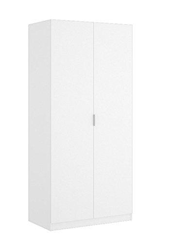 LIQUIDATODO ® - Armario de 2 puertas de 80cm moderno y barato color blanco