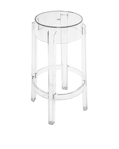 Control Brand Counter Height Ghost Bar Stool, Clear