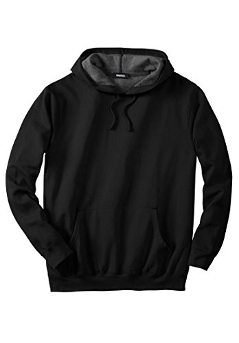 Kingsize Men's Big & Tall Fleece Pullover Hoodie, Black Big-8Xl (King Size Mens Clothing compare prices)