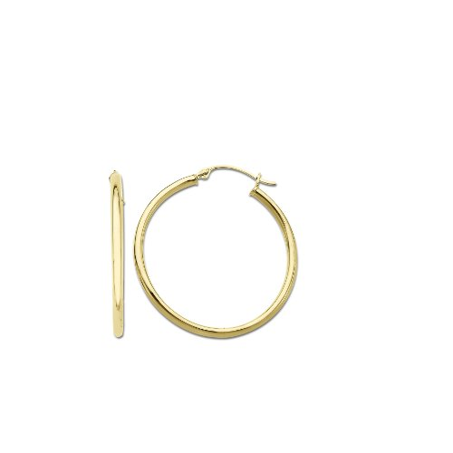 Klassics 10k Yellow Gold Hoop Earrings, (0.7
