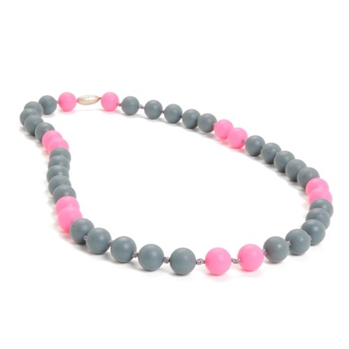 Chewbeads - Teething Necklace Multi Pink/Grey