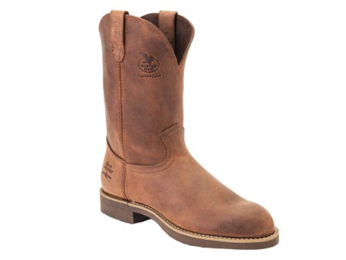 Georgia Boot Men's Heritage Wellington Work Boot,Chestnut Prairie,10 M