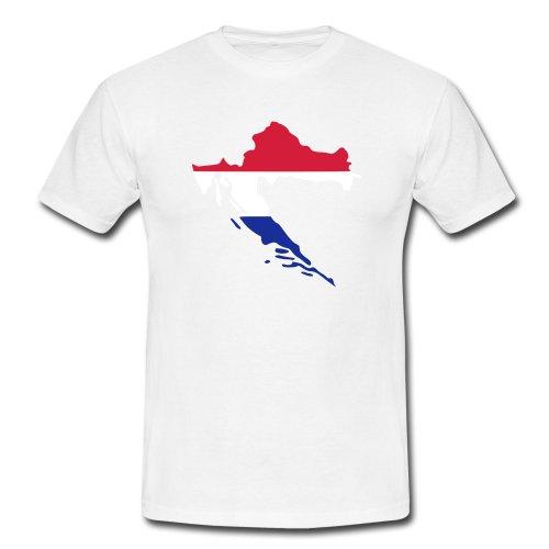 pixelland, Kroatien, Männer T-Shirt klassisch,