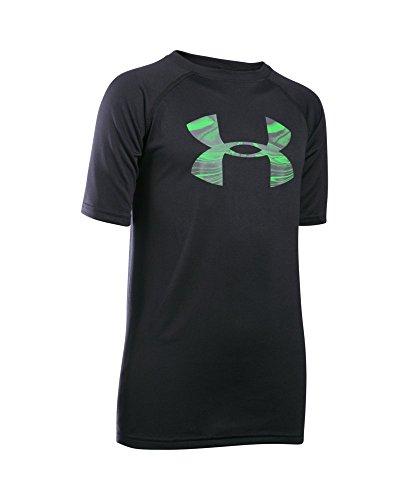Under Armour Boys' Tech Big Logo T-Shirt, Black (083), Youth Medium
