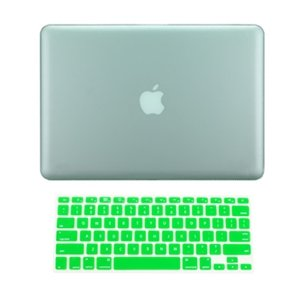 $$  Top Case 2 in 1 Retina 13-Inch GREEN Rubberized Hard Case Cover for Apple MacBook Pro 13.3