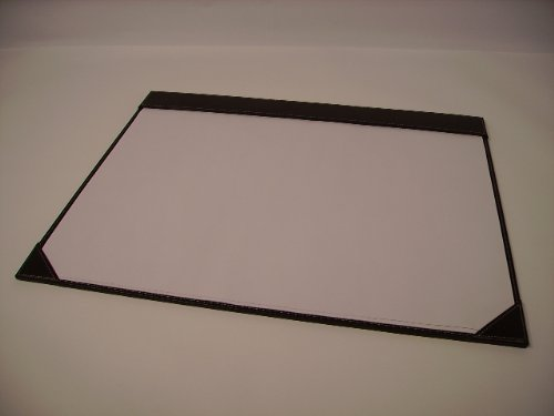 Osco Brown Faux Leather desk mat complete with paper