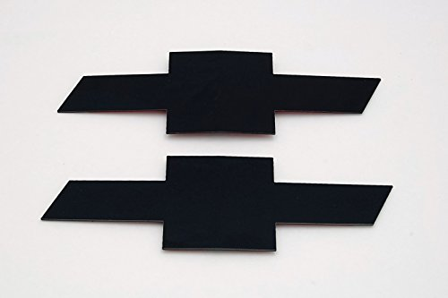 [해외]2016 Silverado 1500 광택 블랙 파우더 코팅 빌렛 알루미늄 보우 티 그릴 및 테일 게이트 엠블렘/2016 Silverado 1500 Gloss Black powder coated billet alumin