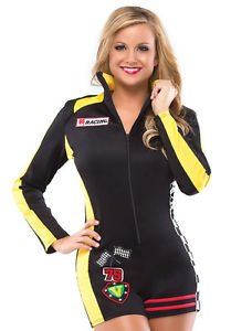 Lanlan Sexy Womens Racing Race Car Driver Halloween Costume
