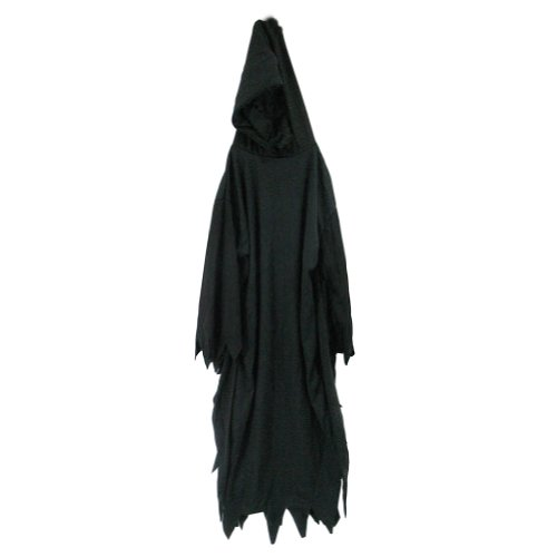 "SeasonsTrading Black Hooded Robe - 56"" Long"