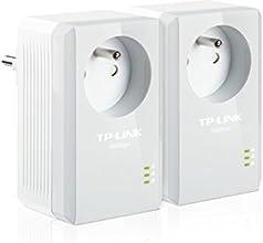 TP-LINK TL-PA4015PKIT 500 Mbps Pack de 2 Mini Adaptateurs CPL (1 Port Ethernet, Prise Intégrée)