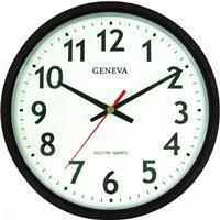 Geneva Brown 14-Inch Electric Quartz Wall Clock, Brown