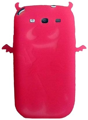 Qtech Qt-1201 Unique Devil Protective Case For Samsung Galaxy S3 - 1 Pack - Retail Packaging - Hot Pink front-58075