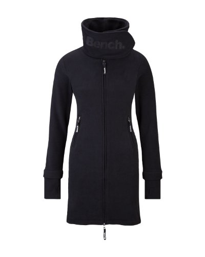 Bench Zip Through Funnel Neck Women's Fleece Coat - Black, XS