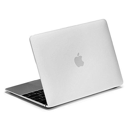 12インチMacBook用 専用シェルカバー LENTION ハードケース 丈夫なゴム足 柔軟性高い(マット・半透明・ホワイト)