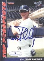 Jason Phillips Norfolk Tides - Mets Affiliate 2002 Choice Autographed Hand Signed... by Hall of Fame Memorabilia
