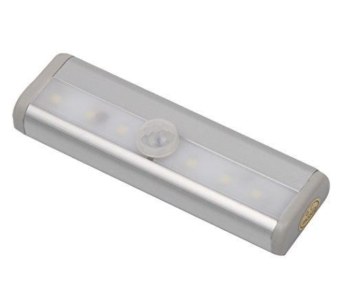 Signstek Aluminum Alloy 6 Led Battery Powered Pir Infrared Motion Detector Wireless Sensor Led Light Lamp With Sticky For Closet Cabinet