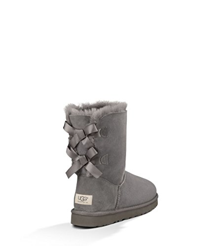 UGG Women's Bailey Bow Grey Twinface Boot 7 B - Medium