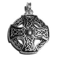 Il massimo croce dei celti in argento Sterling 925Celtico Simbolo, 40x 40mm, 29Grammi, placcato argento Sterling 925, design fronte-retro
