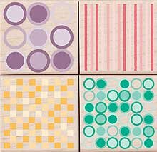 Graphic Patterns Wood Mounted Rubber Stamp Set (LL126)