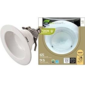Ecosmart Powered By Cree LED 6 Inch Bulb Recessed Light 9.5w/10.5w 2700k Dimmable