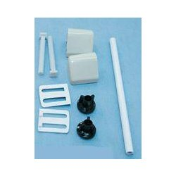 TOILET SEAT FITTING KIT & ROD IVORY- REPAIR KIT fixing