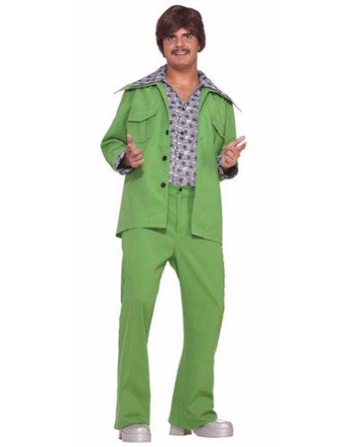 Leisure Suit 70S Green Halloween Costume - Most Adults