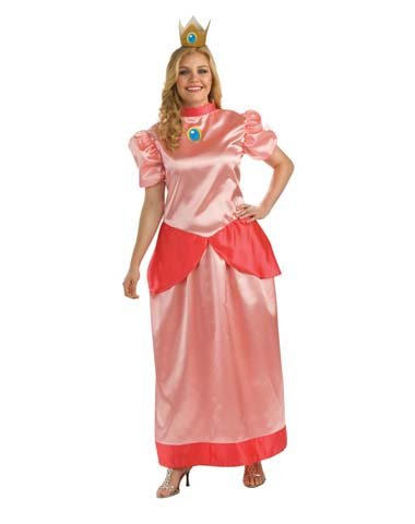 Rubies Costume Co Women's Mario Bros Princess Peach Plus Size Costume