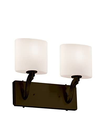 Justice Design Group Fusion 2-Light Wall Sconce, Dark Bronze