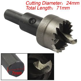 Twist Drill Bit 24mm Cutting Dia Metal Working Hole Saw