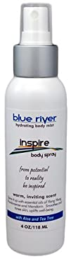 Inspire – Aromatherapy Body Spray with Frankincense and Red Mandarin. 100% Pure Essential Oils. Blue…