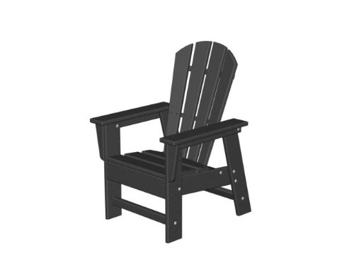 Recycled Earth-Friendly Venice Beach Outdoor Kid's Adirondack Chair - Black
