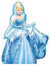 "Amazon.com: CINDERELLA Disney PRINCESS Blue Dress 48"" AIRWALKER"
