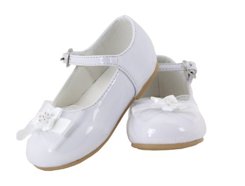 White Patent Leather Mary Jane Shoes For Toddlers