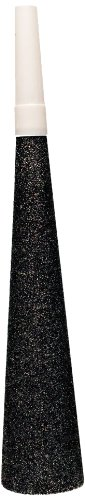 Creative Converting 4 Count Sparkle and Glitter Silver Noisemaker Horns, Black - 1
