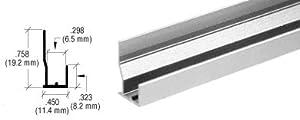 "CRL Polished Aluminum FHA Type ""J"" Channel - 12 ft Long"