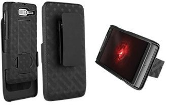 Verizon Shell Belt Clip Holster Combo Case and Kick Stand for Droid Razr M
