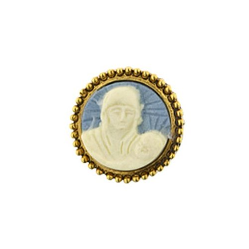Madonna & Child Cameo Tie Pin