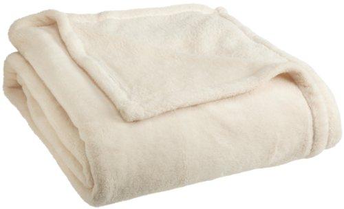 Woven Workz Oh So Soft King Blanket, Cream