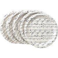 Sheet Music Paper Plates