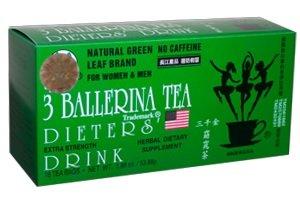 3 Ballerina Dieters Tea Extra Strength - 5 Pack (90 Tea Bags)