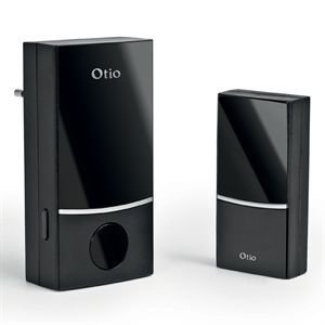 Otio - 500031/cp - 100-Türklingel, drahtlos, mit Stecker, 100 m, Schwarz