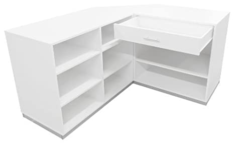 Ladeneinrichtung-Mostrador modular con estantes, cajones y funda estante Color/Arce