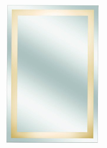 Kimball & Young 30001Hw Classic Border Design Back Lit Mirror Assembly, 36-Inch By 24-Inch, 1X Magnification front-749684