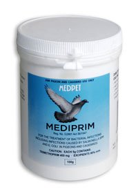 MedPet Mediprim 100 gr. For the treatment of bacterial infections. For Pigeons, Birds & Poultry