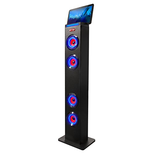Sumvision® Pysc® Wireless Bluetooth LED Tower Speaker Torre XL Bluetooth Tower Speakers Stand for PC phone Iphone Ipad Samsung Galaxy with built in radio