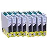 8 X T1281 BLACK Epson Compatible Ink Cartridges 1281 *** for Epson SX130 - ALSO COMPATIBLE WITH Epson Stylus Office BX305F BX305FW BX305FW Plus Epson Stylus S22 SX125 SX130 SX235W SX420W SX425W SX435W SX445W & BX305F BX305FW Printers - Latest Version Dou